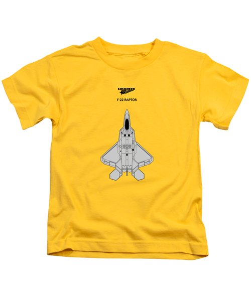 F-22 Raptor - White Kids T-Shirt