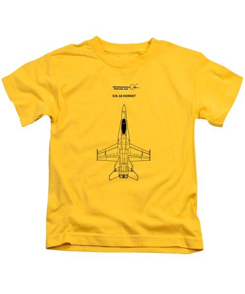 The F-18 Hornet Kids T-Shirt by Mark Rogan