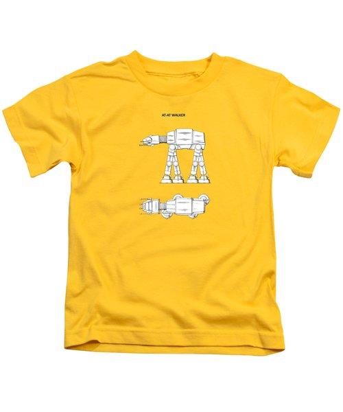 Star Wars - At-at Patent Kids T-Shirt by Mark Rogan