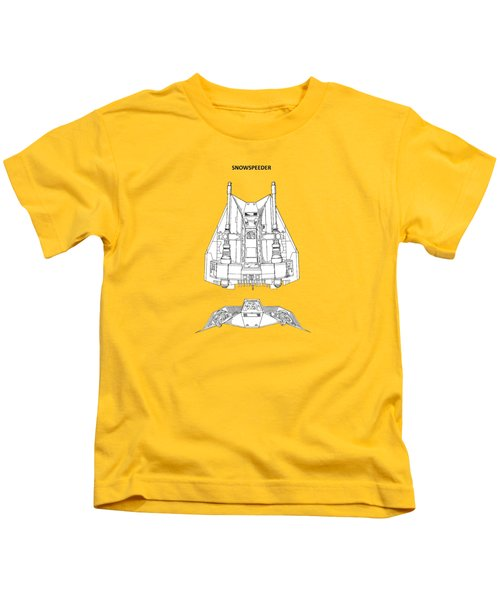 Star Wars - Snowspeeder Patent Kids T-Shirt by Mark Rogan