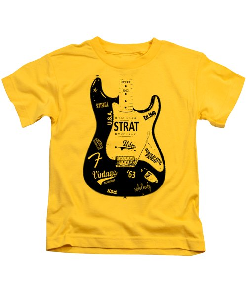 Fender Stratocaster 63 Kids T-Shirt by Mark Rogan