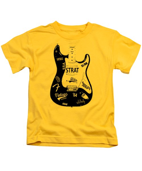 Fender Stratocaster 64 Kids T-Shirt by Mark Rogan