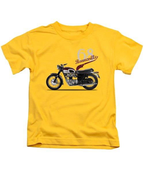 Triumph Bonneville T120 1968 Kids T-Shirt by Mark Rogan