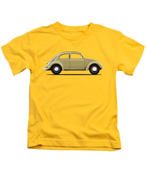 Vw Beetle 1946 Kids T-Shirt by Mark Rogan