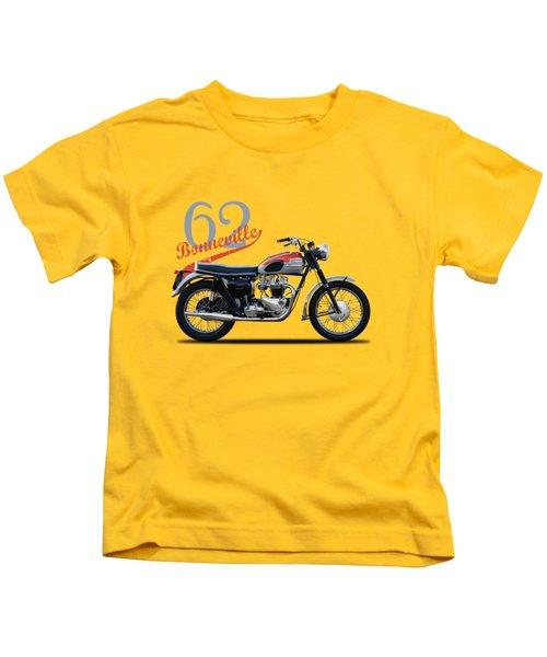 Bonneville T120 1962 Kids T-Shirt by Mark Rogan