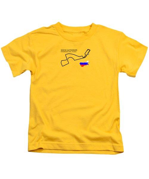 The Sochi Autodrom Kids T-Shirt
