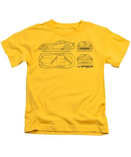 Srt Viper Blueprint Kids T-Shirt