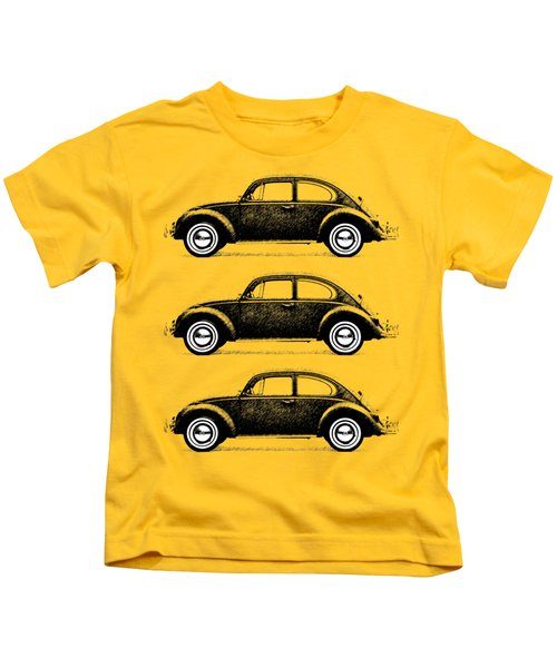 Think Small Kids T-Shirt by Mark Rogan