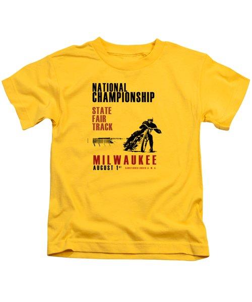 National Championship Milwaukee Kids T-Shirt by Mark Rogan