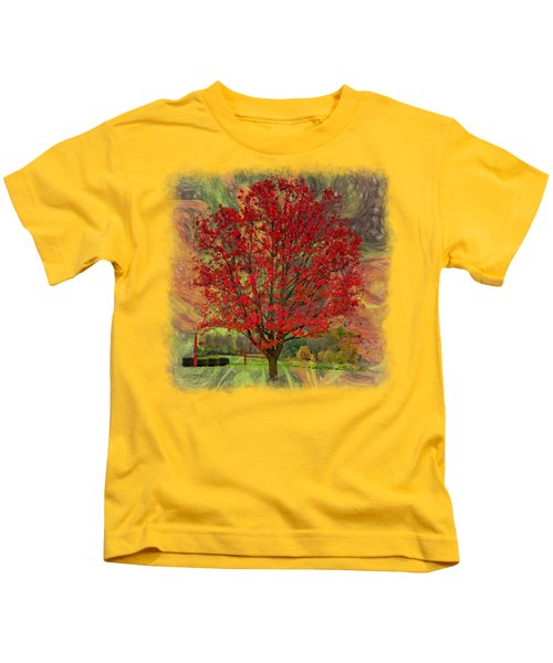 Autumn Scenic 2 Kids T-Shirt by John M Bailey