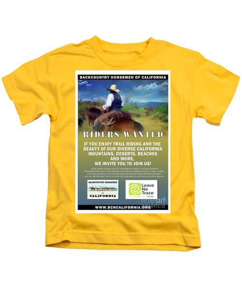 Backcountry Horsemen Join Us Poster Kids T-Shirt