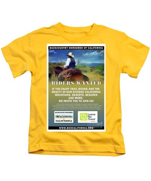 Backcountry Horsemen Join Us Poster Kids T-Shirt