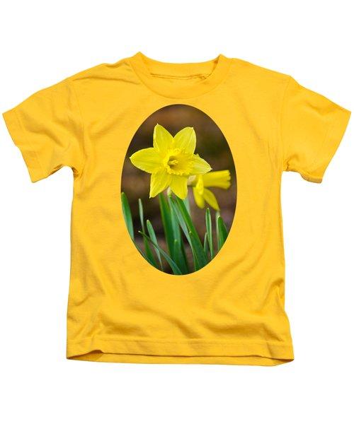 Beautiful Daffodil Flower Kids T-Shirt by Christina Rollo