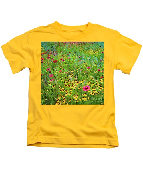 Blooming Wildflowers Kids T-Shirt