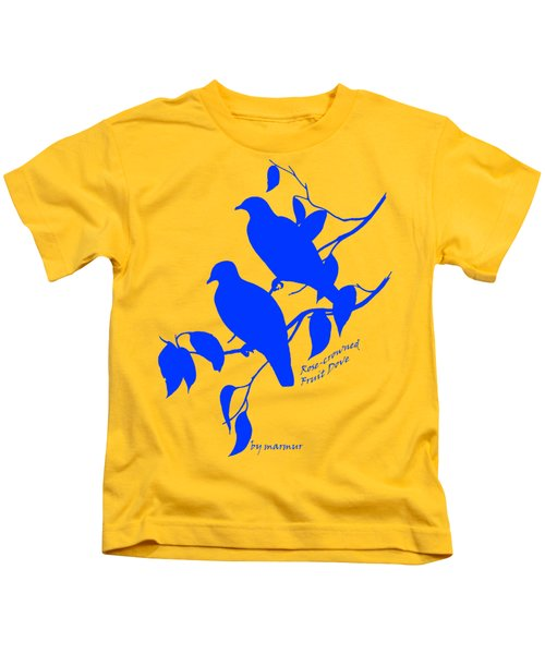Blue Doves Kids T-Shirt by The one eyed Raven