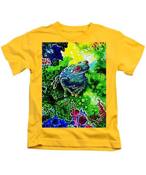Blue  Frog Kids T-Shirt