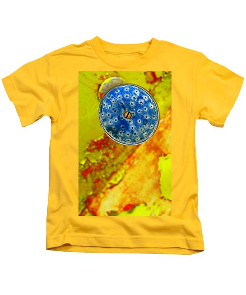 Blue Shower Head Kids T-Shirt