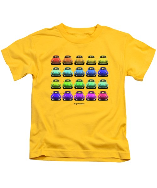 Bug Infestation. Kids T-Shirt by Mark Rogan