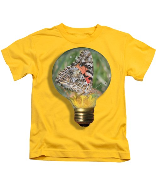 Butterfly In A Bulb II Kids T-Shirt