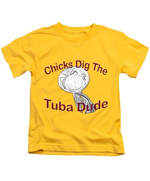 Chicks Dig The Tuba Player Kids T-Shirt