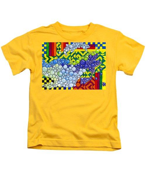 Colorful Bubbles On Tiles Kids T-Shirt