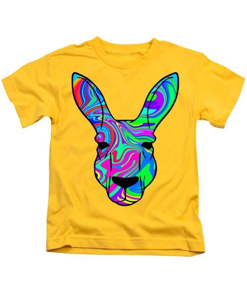 Colorful Kangaroo Kids T-Shirt by Chris Butler