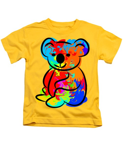 Colorful Koala Kids T-Shirt by Chris Butler