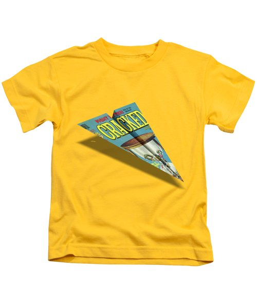 109 Cracked Mad Paper Airplane Kids T-Shirt