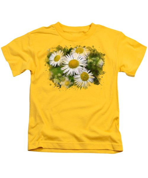 Daisy Watercolor Art Kids T-Shirt by Christina Rollo