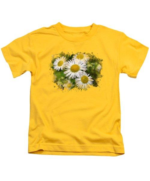 Daisy Watercolor Art Kids T-Shirt