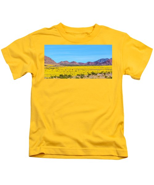 Death Valley Super Bloom 2016 Kids T-Shirt by Peter Tellone