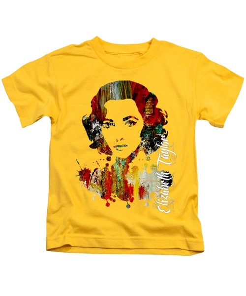 Elizabeth Taylor Collection Kids T-Shirt by Marvin Blaine