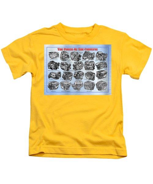 Eng-19_corvette-engines Kids T-Shirt