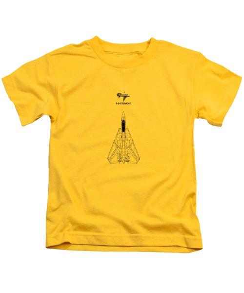 F-14 Tomcat Kids T-Shirt by Mark Rogan