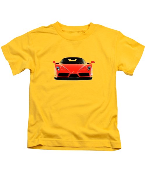 Ferrari Enzo Ferrari Kids T-Shirt by Mark Rogan