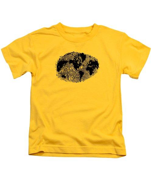 fingerprint 20X30 Kids T-Shirt