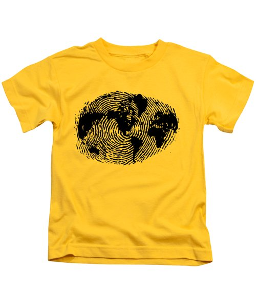 fingerprint 20X30 Kids T-Shirt