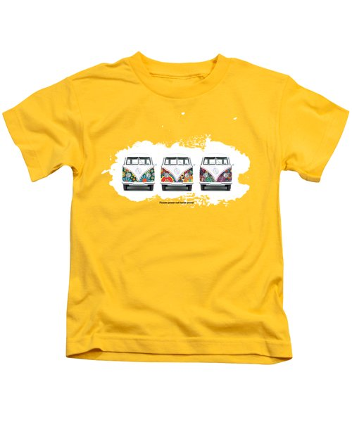Flower Power Vw Kids T-Shirt