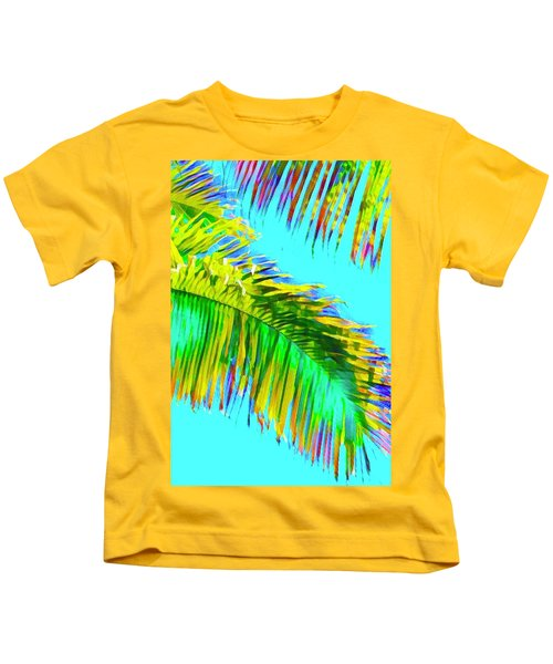 Fragment Of Coconut Palm Psychedelic Kids T-Shirt