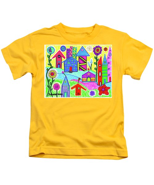 Funky Town 3 Kids T-Shirt