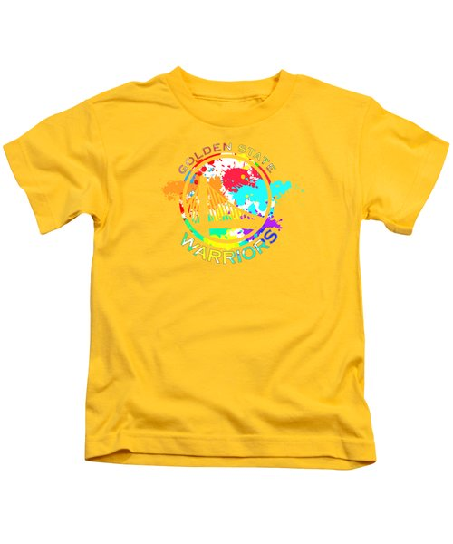 Golden State Warriors Pop Art Kids T-Shirt