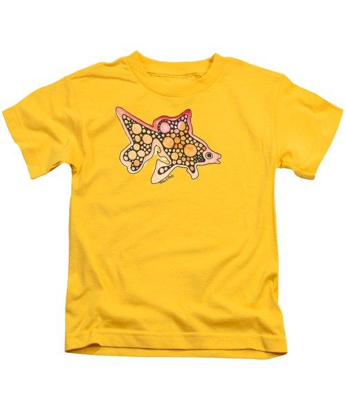 Goldfish Kids T-Shirt by Petra Stephens