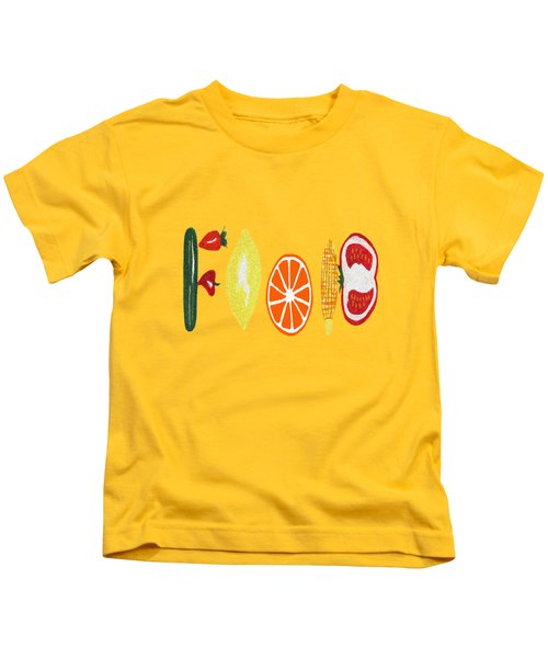 Good Eats Kids T-Shirt by Kathleen Sartoris