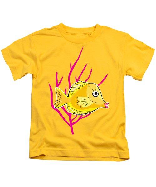 Hawaiian Yellow Tang  Kids T-Shirt