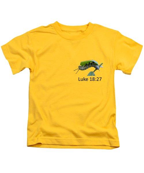 Hungry Monarch Caterpillar Kids T-Shirt