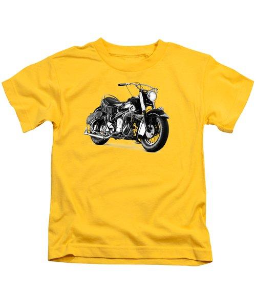Indian Chief Roadmaster 1953 Kids T-Shirt by Mark Rogan
