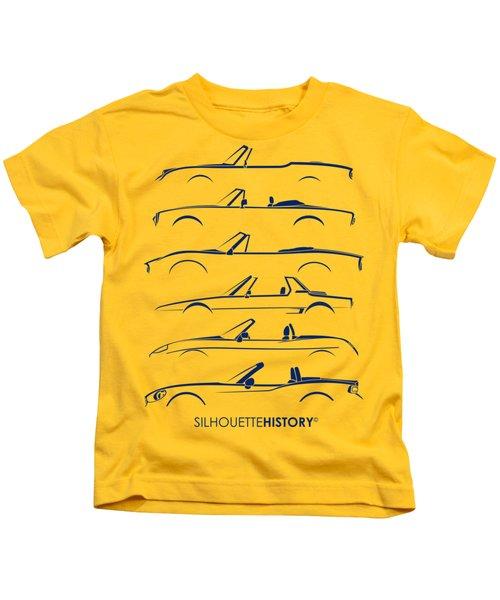 Italian Roadster Silhouettehistory Kids T-Shirt