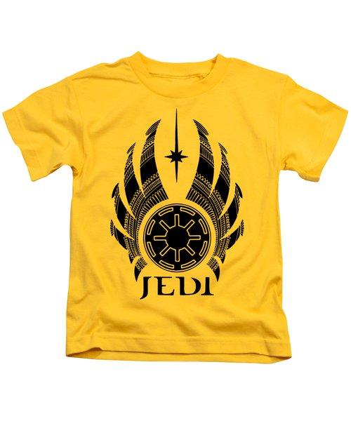 Jedi Symbol - Star Wars Art, Teal Kids T-Shirt