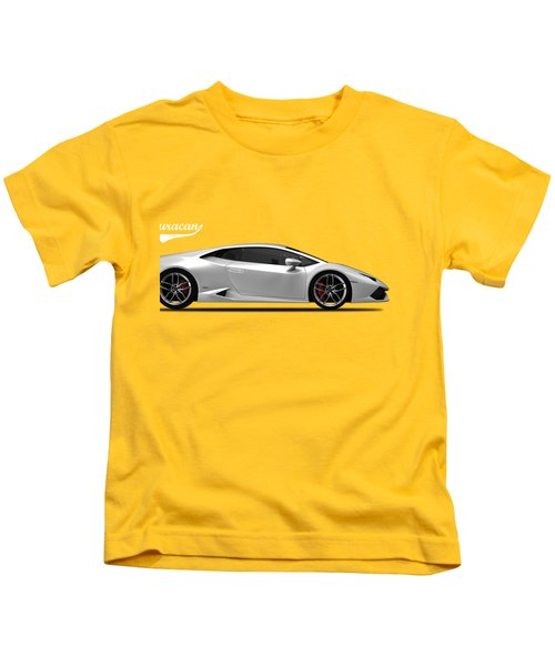 Lamborghini Huracan Kids T-Shirt by Mark Rogan