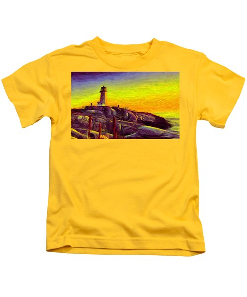 Lighthouse Sunset Kids T-Shirt